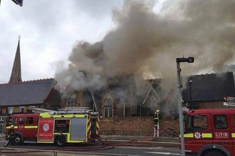 St Pauls Primary School Hounslow Fire